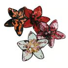 Flower Patches Sequin Beaded Applique Embroidered Iron On For Clothing Apparel