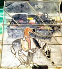 Native American Indian Mounted on Horse Stained Glass Window Suncatcher