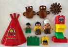 Vintage 90s LEGO Duplo 2432 Big Chiefs Teepee Native Americans Indians