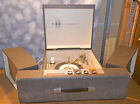 Silvertone Portable Stereo Turntable W Speakers Tube Amp Model 3274 Tested