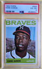 Vintage Topps Hank Aaron Baseball Cards Showcase Gallery and Checklist 80
