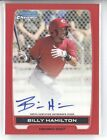 BILLY HAMILTON 2012 BOWMAN CHROME PROSPECT AUTO RED REFRACTOR ROOKIE RC #5 5