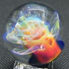 Anthony Weber 137 Glass Marble Pierian Flower BOLD Neon Green Blue Pink Fume