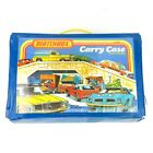 1978 Lesney Matchbox Carry Case Holds 24 Models blue plastic 25 cars included