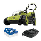Cordless Electric Walk Behind Push Lawn Mower Kit with17 in 48 Volt iON+ 2 x 4
