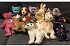 Ty Original Beanie Baby Of The Month 2003 Complete Set 12 Decade Dog Bear Cat