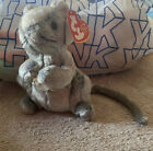 Ty Beanie Baby Cheddar the Mouse DOB March 24, 2002 - pe pellets