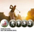 Funny Metal Golf Ball Line Marker Drawing Template Alignment Ball Mold Signal