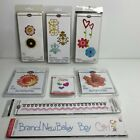 Sizzix Sizzlits ProvoCraft Cutting Die Lot of 8 Cardmaking Crafts Floral Hearts