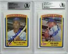 1990 Swell Ron Santo & Billy Williams Signed Card Autograph Lot Auto BAS Cubs