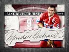 MAURICE RICHARD Custom Cut signed autographed card Montreal Canadiens (1)