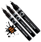 Molotow Liquid Chrome Marker Set 1mm 2mm and 4mm Paint Pens Free Shipping