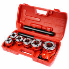 IRONMAX New Ratchet Ratcheting Pipe Threader Kit Set w 6 Dies and Storage Case
