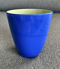 Tiffany  Co Crystal Cased Glass Tumbler Carlo Moretti Blue Yellow SIGNED 3 5 8