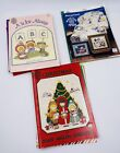 Lot Of 26 Cross Stitch Booklets holiday country Angel Nativity Rare
