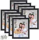 8x10 Black Picture Frames Photo Frame Set of 8 for Wall Home Family Office Deco