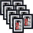 4x6 Picture Frame Set of 9 5x7 Black Photo Frames Matted for 4x6 Pictures Wall