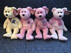 Ty Beanie Babies Mother's Day Bears Set Of 4 Mum MOM-e Mother Flowers