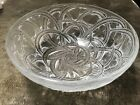 Lalique PINSONS Frosted Crystal 925 Bowl Vines  Finches interior scratches