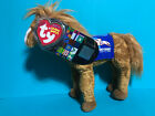 Ty Beanie Baby DERBY 134 Blue  w/ Kentucky Derby Store Exclusive Horse Tag VISA
