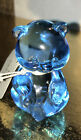 Fenton ICE Blue Glass Bear 2000 95 Yr Anniversary Gorgeous W Tag And Embossed