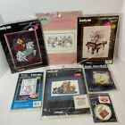 Janlynn Counted Cross Stitch Kit Set Lot of 7 Medieval Horse Vintage Dogs Rabbit
