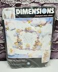 Dimensions Stamped Cross Stitch Kit Nighttime Prayer Quilt 43 x 34 Sealed