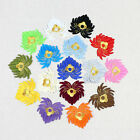 Lotus Flower Iron On Patch Sticker Handmade Embroidery Patches Flower appliques