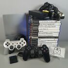 Sony PlayStation 2 PS2 Slim Console Bundle 14 Games, 2 Controllers & Memory Card