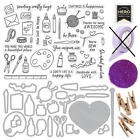 Hero Arts MAY 2019 MONTHLY KIT Stamps Dies EP Crafting Painting Knitting Theme