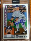 Topps Project 2020 Keith Shore, Signed by Don Mattingly (see description)