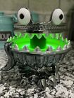 Bath  Body Works Halloween 2021 Monster Light Up Green 3 Wick Candle Holder New