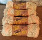 Caron Dazzle Aire Butterscotch Yarn Lot Of 4 New In Wrapper