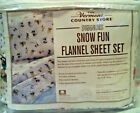 The Vermont Country Store Peanuts Snow Fun Twin Flannel Blanket Open Package