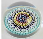 Signed 1975 WHITEFRIARS Millefiori Star Design Paperwieght