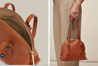 Whistles Hadley Tan Brown Leather Half Moon Bag New Without Tags