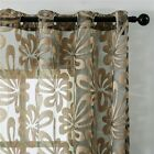 Luxury Sheer Curtains Burnout Geometric Patterned Tulle Curtain For Living Rooms