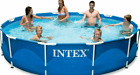 Intex 12 x 30 Metal Frame Round Above Ground Swimming Pool with Filter  Pump