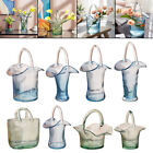 Luxury Glass Bag Vase Shopping Basket with Handle Hand Blown Fish Tank Flower