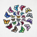 Multicolor Butterfly Iron on Patch Embroidered Sew Applique Repair Patch 5 100pc
