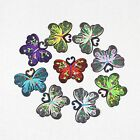 Floral Butterfly Embroidered Iron on Sew on Patches Applique Badge Patch 5 100pc