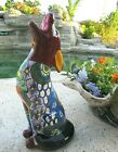 Talavera Pottery Howling Coyote Mexican Ceramic Art Animal Figure Southwest 19