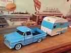 124 Scale Diecast Custom2 pc Set Blue 58 Chevy pickup  58 Catolac trailer