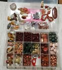 INCREDIBLE 35+ LB LOT OF GENUINE STONE  GLASS BEADS FOR JEWELRY MAKING NO JUNK
