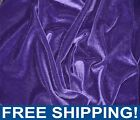 Purple Stretch Velvet Fabric Sold by Yard  Bolt 72405 Free Shipping