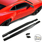 Side Skirts Extension Rocker Panels Add on For 2010 2015 Chevy Camaro ZL1 SS LT