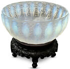 1930s Ree Lalique Opalescent Glass Perruches Bowl High relief Parakeets Rare