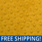 Gold Dimple Dots Minky Fabric  Buy More Save More  12503