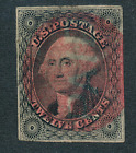 US Classic 17 F VF used with red fancy cancel 21 Cat 17500