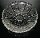 Bohemian Czech Cut Glass Crystal Queens Lace Nappy Dish Trinket Bowl 55 inch